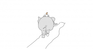 elephant rear rider and path